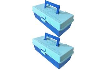 2x 28cm Storage Box/Case/Caddy/Organiser Tray for Tool/Sewing/Handcraft/Fishing