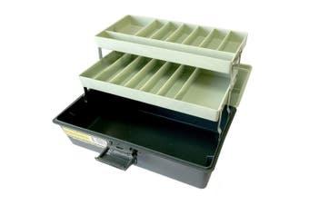 31cm Storage Box/Case w/Caddy/Organiser Tray for Tool/Sewing/Fishing/Handcraft