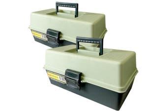 2x 31cm Storage Box/Case/Caddy/Organiser Tray for Tool/Sewing/Fishing/Handcraft