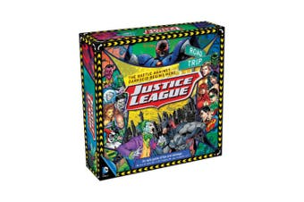 DC Justice League Road Trip Kids Fun/Stratergy Board Game 2-4 Players 12y+