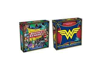 2PK DC Justice League & Wonder Woman Road Trip Kids Stratergy Board Game Combo
