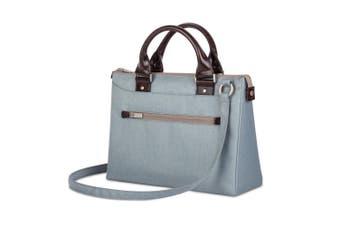 "Moshi Urbana Mini Lightweight Padded Ladies Handbag For 12"" Laptop/iPad Sky Blue"