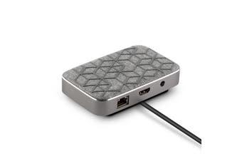 Moshi Symbus Q USB-C Dock/Qi Charger w/HDMI/2x USB-A/Ethernet Hub For MacBook/PC