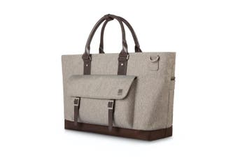 "Moshi Costa Travel Satchel Weather Resistant Bag For 15"" Laptop Sandstone Beige"