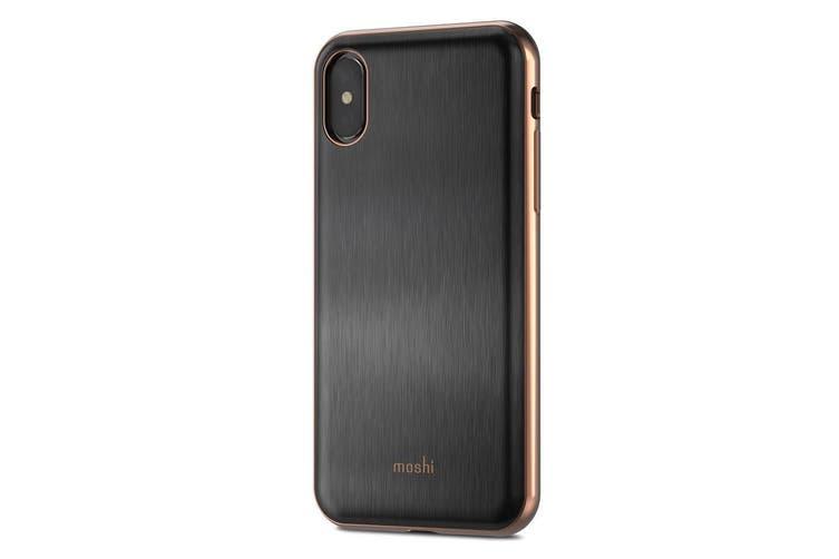 Moshi iGlaze Shockproof Scratch Resistant Hard Cover/Case For iPhone X/XS Black