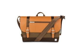 "Moshi Carta Compact Magnetic Closure Messenger Bag w/RFID Shield f/13"" Laptop BW"