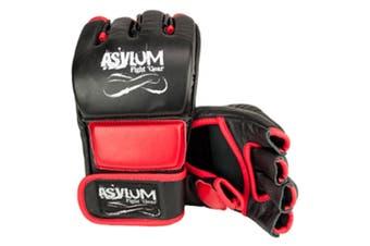 Asylum Medium MMA Glove Fitness/Fighter/Boxing Equipment/Fight/Training Gear Red