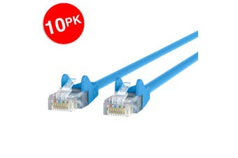 10PK Belkin 5m Blue CAT5e Network Cable Ethernet Internet RJ45 for PC/Router/LAN