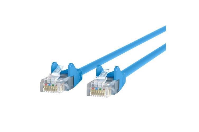 5PK Belkin 5m Blue CAT5e Network Cable Ethernet Internet RJ45 for PC/Router/LAN