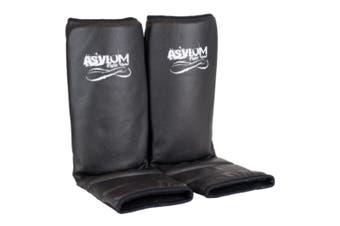 Asylum Fight Adult Shin Leg Guards MMA//Muay Thai Boxing/Kick Training Gear BLK