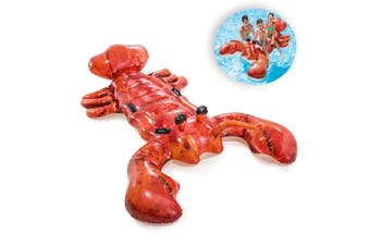 Intex 213x137cm Lobster Inflatable Swimming Pool Float Ride-On Adults/Kids 3y+