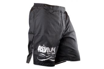 Asylum Black Shorts Size 30 Boxing/MMA/Fitness/Fighter Equipment/Fight Gear
