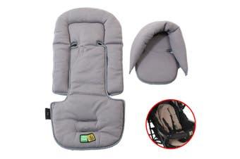 Vee Bee Allsorts Pad Infant Baby Head/Body Support f/Pram Stroller Car Seat Grey