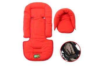 Vee Bee Allsorts Pad Infant Baby Head/Body Support f/Pram Stroller Car Seat Red