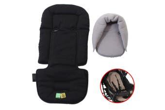 Vee Bee Allsorts Pad Infant Baby Head/Body Support f/Pram Stroller Car Seat BLK