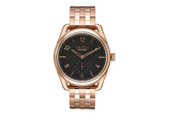 Nixon Men's 39mm C39 Stainless Steel Quartz Analogue Wrist Watch Rose Gold/Black