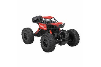 Lenoxx Waterproof Crawler Rechargeable RC Amphibious 4WD Toy Car Kids 8+ Red