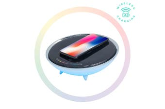 Activiva Wireless Charger w/ RGB Colour Light Changing Base for Apple/Samsung