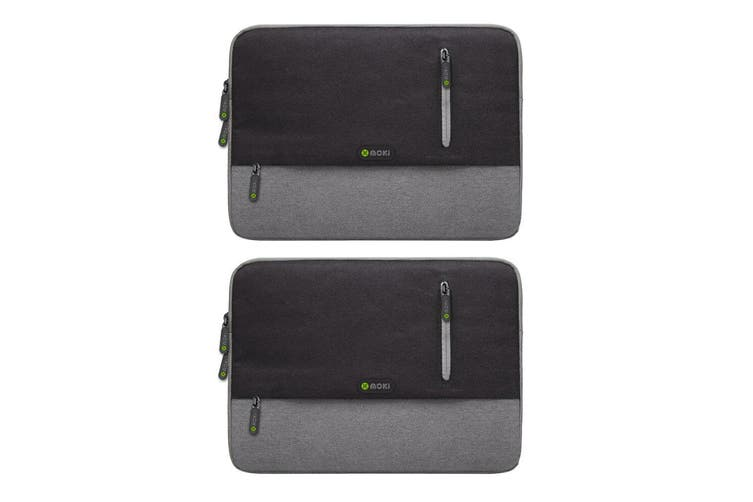 "2PK Moki Odyssey Sleeve Carry Case Cover Bag for 13.3"" Laptop/MacBook/Notebook"