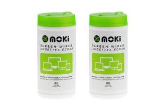 2x 80PK Moki Disposable Antistatic Alcohol Free Laptop/Computer Screen Wipes