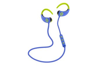 Moki Octane Blue Wireless Bluetooth Earphones Ear-Hooks Sports Headset w/Mic
