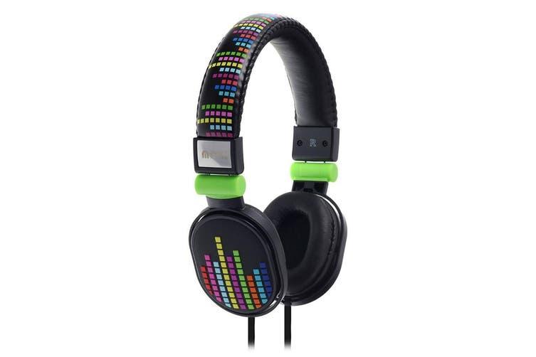 2PK Moki Popper Children/Kids Headphones Over Ear Cup Stereo Headband Levels BLK