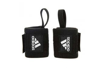 Adidas Wrist Wraps Pair Adjustable Gym/Fitness Sports Training Support Black