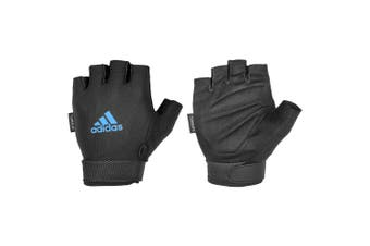 Adidas Climate Adjustable Unisex Weight/Gym/Sports SM Half Finger Gloves BLK/BLU