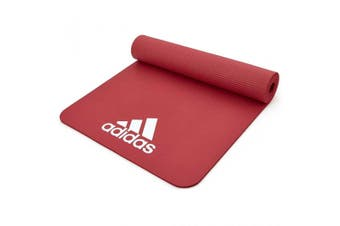 Adidas 7mm Training/Fitness Gym/Home Padded/Rollable/Lightweight Travel Mat Red