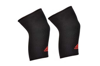 2x Adidas Knee/Joint Brace/Support/Sleeve XL Unisex Sports/Training Elastic BLK