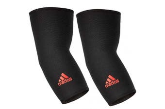 2x Adidas Elbow/Joint Brace/Support/Sleeve M Unisex Sports/Training Elastic BLK