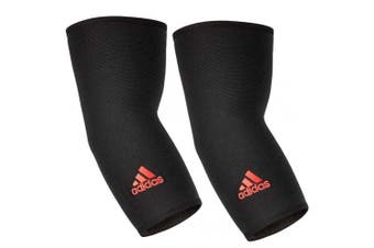2x Adidas Elbow/Joint Brace/Support/Sleeve L Unisex Sports/Training Elastic BLK