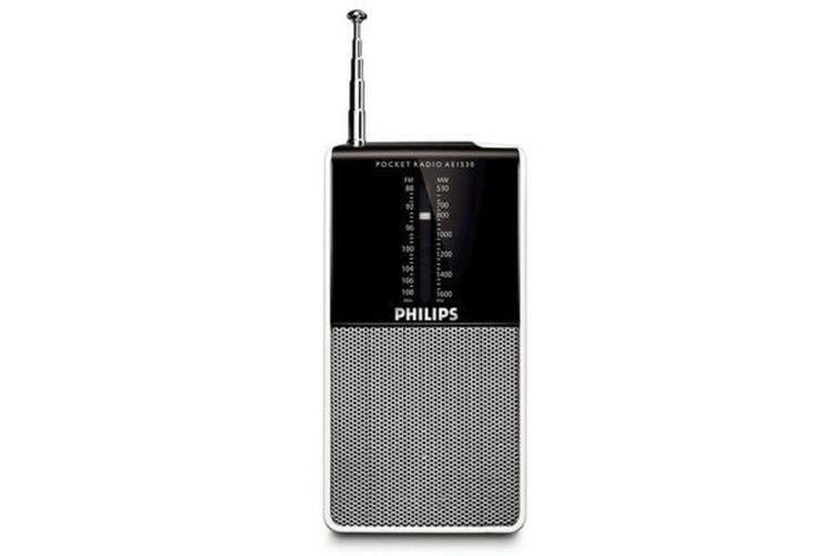 Philips AE1530 Portable Pocket AM/FM 2 Band Radio Speaker/Earphone Jack 3.5mm