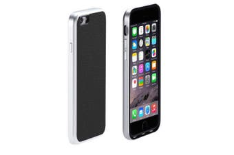 Just Mobile AluFrame Black Aluminum/Genuine Leather Case for iPhone 6/6S/7/8