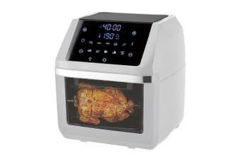 Digital 12L 1800W Airfyer/Oven Rotisserie w/ Rack/Basket/Tray/Tongs/Time White
