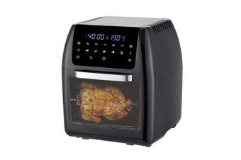Healthy Choice 12L Digital Airfyer/Oven Rotisserie w/Rack/Basket/Tray/Tongs/Time