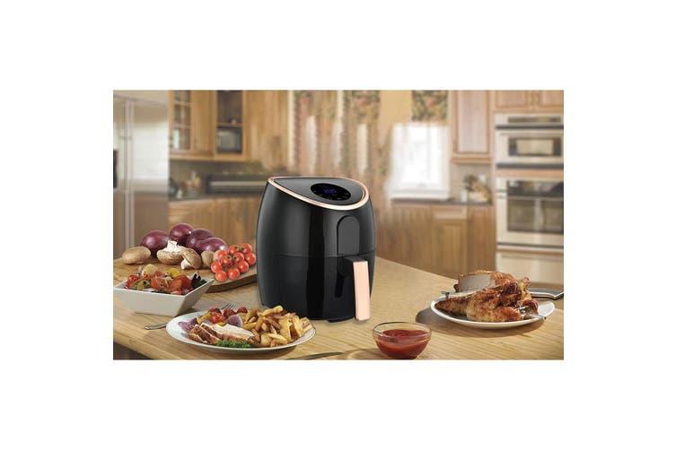 Healthy Choice 1700W 7L Digital Electric Air Fryer Cooker/Baker/Non-Stick BK/RSG