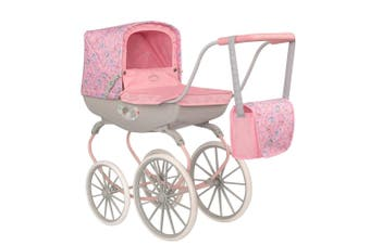 Baby Annabell Carriage Doll Pram/Stroller Kids Toy 3y+ w/Bedding/Changing Bag PK