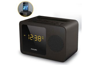 PHILIPS AJT5300 FM Alarm Clock Radio/USB Charger Charging/Bluetooth Speaker/Mic
