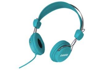 Laser Volume Limited Kids Headphones/Headband Safe for Dvd/iPad/Audio Toy Blue