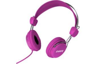 Laser Volume Limited Kids Headphones/Headband Safe for Dvd/iPad/Audio Toy Pink