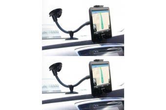 2PK Laser Universal Car Windshield Handsfree Mount for Smartphones/Tablet/GPS