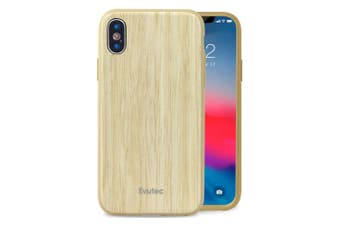 Evutec AER Wood Drop Proof Case Cover For Apple iPhone X/XS w/Vent Mount Bamboo
