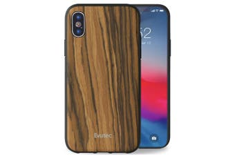 Evutec AER Wood Drop Proof Case Cover For Apple iPhone X/XS w/Car Vent Mount BRW