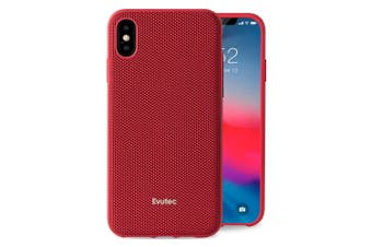 Evutec Aergo Drop Proof Nylon Case Cover For Apple iPhone X/XS w/Vent Mount Red