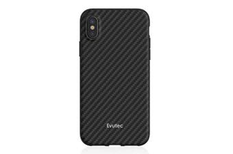 Evutec AER Series Karbon Case Protect Cover f/ iPhone X/XS w/ Car Vent Mount BLK