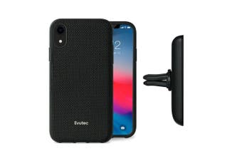 Evutec Case Cover AFIX+ Magnetic w/ Car Mount for Apple iPhone XR Ballistic BLK