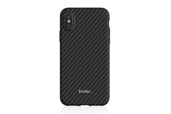 Evutec AER Series Karbon Case Cover Protect f/ iPhone XR w/ Car Vent Mount Black