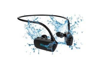 Wintal Aqua Buds Waterproof Bluetooth In-Ear Earphones w/8GB MP3 Player Black