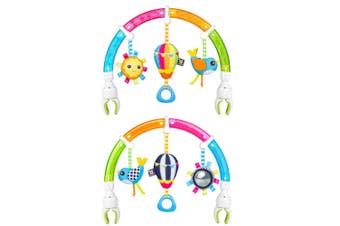 2PK Benbat Dazzle Rainbow Play Hanging Arch Strollers/Bouncers Baby 0-12m Toys